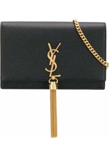 Saint Laurent Bolsa Transversal Kate Pequena - Preto