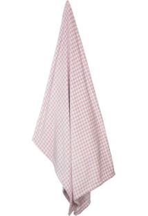 Cobertor Flannel Loft Geomã©Trico De Solteiro- Bege Escurcamesa