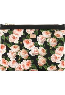 Dolce & Gabbana Necessaire Com Estampa Floral - Preto