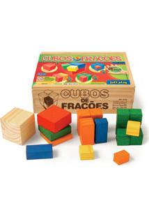 Cubos De Frações 93 Peças De Madeira - Tricae