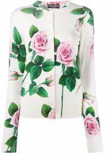 Dolce & Gabbana Blusa Com Estampa De Rosas - Branco