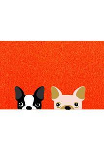 Capacho Vinil Super Print Dogs 40Cm X 60Cm Único