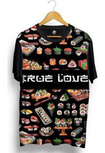 Camiseta Bsc True Love Full Print - Masculino-Preto