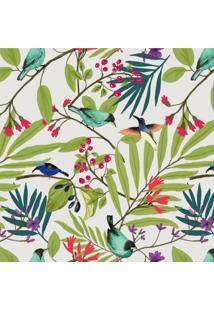 Papel De Parede Stickdecor Adesivo Floral Folhagem Passarinho