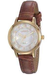 Relógio Feminino Mondaine Analógico - 76742Lpmvdh1 - Feminino-Marrom
