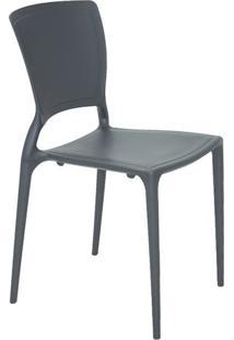 Cadeira Sofia- Cinza Escuro- 82,5X53X44,5Cm- Tratramontina