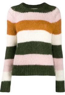 Chinti & Parker Suéter Listrado De Tricô - Verde