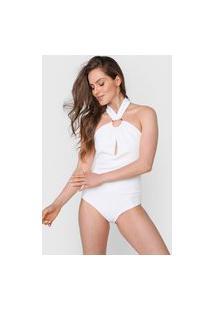 Body Lança Perfume Recorte Off-White