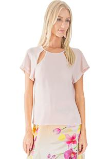Blusa Lucy In The Sky Manga Rosa - Tricae