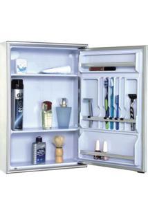 Espelheira De Embutir Cristal 105-8 44X58,5Cm Branca Cris-Metal