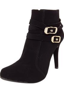 Ankle Boot Crysalis Fivelas Preta