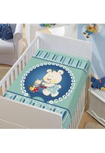 Cobertor Bebê Mamãe E Filhinho Verde 0,90 X 1,10M Jolitex