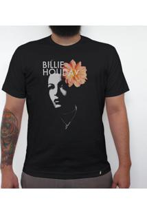Billie Holiday - Camiseta Clássica Masculina