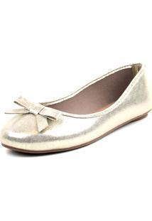 Sapatilha Tag Shoes Metalizada Dourada - Tricae