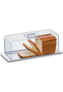 Porta Pão, Rocambole E Torta Fria 2 Peças - Atina 40 X 16 Cm - Brinox