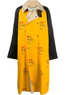 Off-White Trench Coat Industrial Oversized - Amarelo