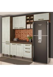 Cozinha Compacta Viena Ii 8 Pt 2 Gv Marrom E Gelo