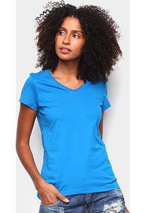 Blusa Malwee Baby Look Feminina - Feminino-Azul