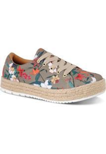Tênis Flatform Corda Prime Shoes Feminino - Feminino-Marrom