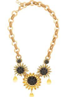 Dolce & Gabbana Colar Com Girassol - Amarelo