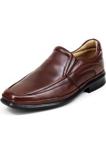 Sapato Social Mafisa Elástico Marrom