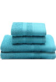 Jogo De Banho 4Pã§S Buddemeyer Windsor 70 X 135 Azul - Azul - Dafiti