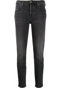Diesel Calça Jeans Slim - Preto