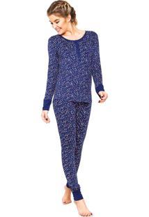Pijama Any Any Corações Azul/ Rosa