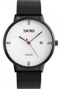 Relógio Skmei Analógico Feminino - Feminino-Preto+Branco
