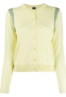Ps Paul Smith Long-Sleeve Fitted Cardigan - Amarelo