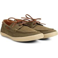 a9a7d433d Sider Couro Richards Boat Relax Masculino - Masculino-Verde Militar