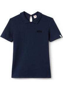 Camisa Polo Lacoste Live Slim Fit Feminina - Feminino-Azul Navy