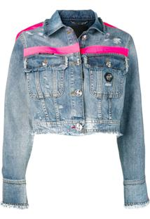 Philipp Plein Printed Denim Jacket - Azul