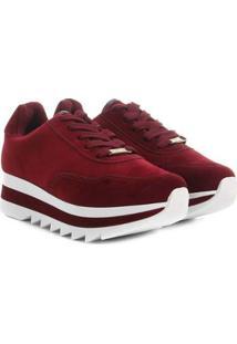 Tênis Vizzano Sneaker Bufalo Flatform Feminino - Feminino-Bordô