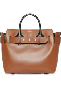 Burberry Bolsa The Small Com Cinto - Marrom