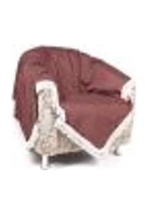 Xale Manta Decorativa Tabaco Lisa Para Sofá Ou Poltrona 1,50M X 1,50M