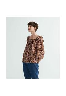 Blusa Bata Em Viscose Estampa Floral | Marfinno | Multicores | P
