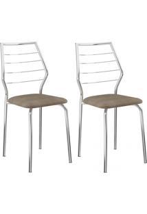 Kit 2 Pçs - Cadeira 1716 Cromada - Carraro