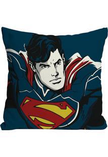 Capa Para Almofada Supermanâ®- Azul Marinho & Vermelha