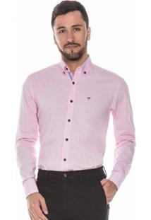 Camisa Hugo Rossi Rosa Claro - Masculino