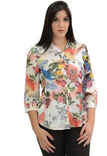 Camisa Energia Fashion Estampada Rosa