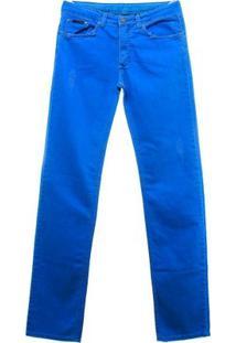 Calça Color 5 Pkts - Calvin Klein - Masculino-Azul