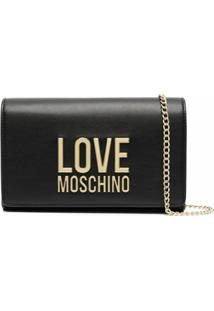 Love Moschino Bolsa Transversal Com Logo De Letras - Preto