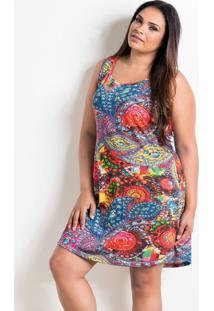 Camisola Estampada Plus Size