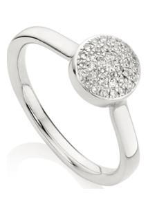 Monica Vinader Anel Com Diamante 'Fiji Button' - Prateado
