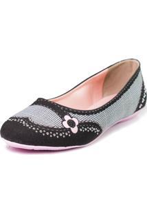 Sapatilha Cupcakes Shoes Bico Redondo Doll Preto
