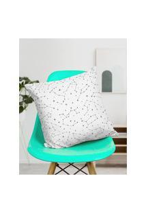 Amaro Feminino Design Up Living Capa De Almofada Constelação 42X42, Branco
