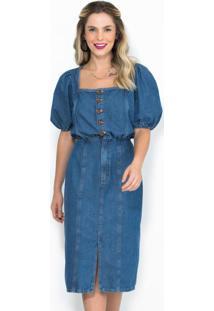 Vestido Midi Jeans Azul
