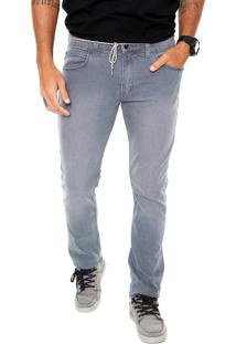 Calça Jeans Element Slim Bowl Cinza