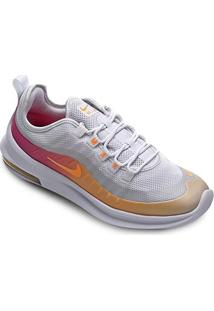 Tênis Nike Air Max Axis Prem Feminino - Feminino-Branco+Laranja